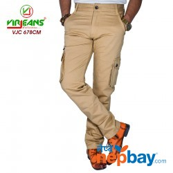 Virjeans Casual Multi Pockets Cotton (Twill) Cargo (Box) Pant (VJC 678)