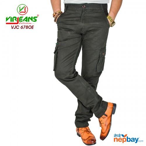 Virjeans Casual Multi Pockets Cotton (Twill) Cargo (Box) Pant (VJC 678)
