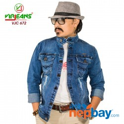 Virjeans Denim Stretchable Jacket (VJC 672) Blue