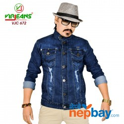 Virjeans Denim Stretchable Jacket (VJC 672) Dark Blue