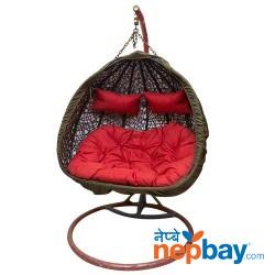 "Armchair Hanging Garden Cocoon - 2 Seater Round Swing 48"""