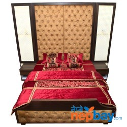 Modern + Classic Designer Bed Set With Two Side Tables