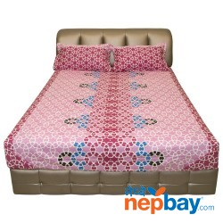 Silver Grey High Quality Queen Size Regjin Bed With 3 Drawers 5' x 6.5'
