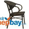Indoor/Outdoor Chair - Metal With Plastic Rope