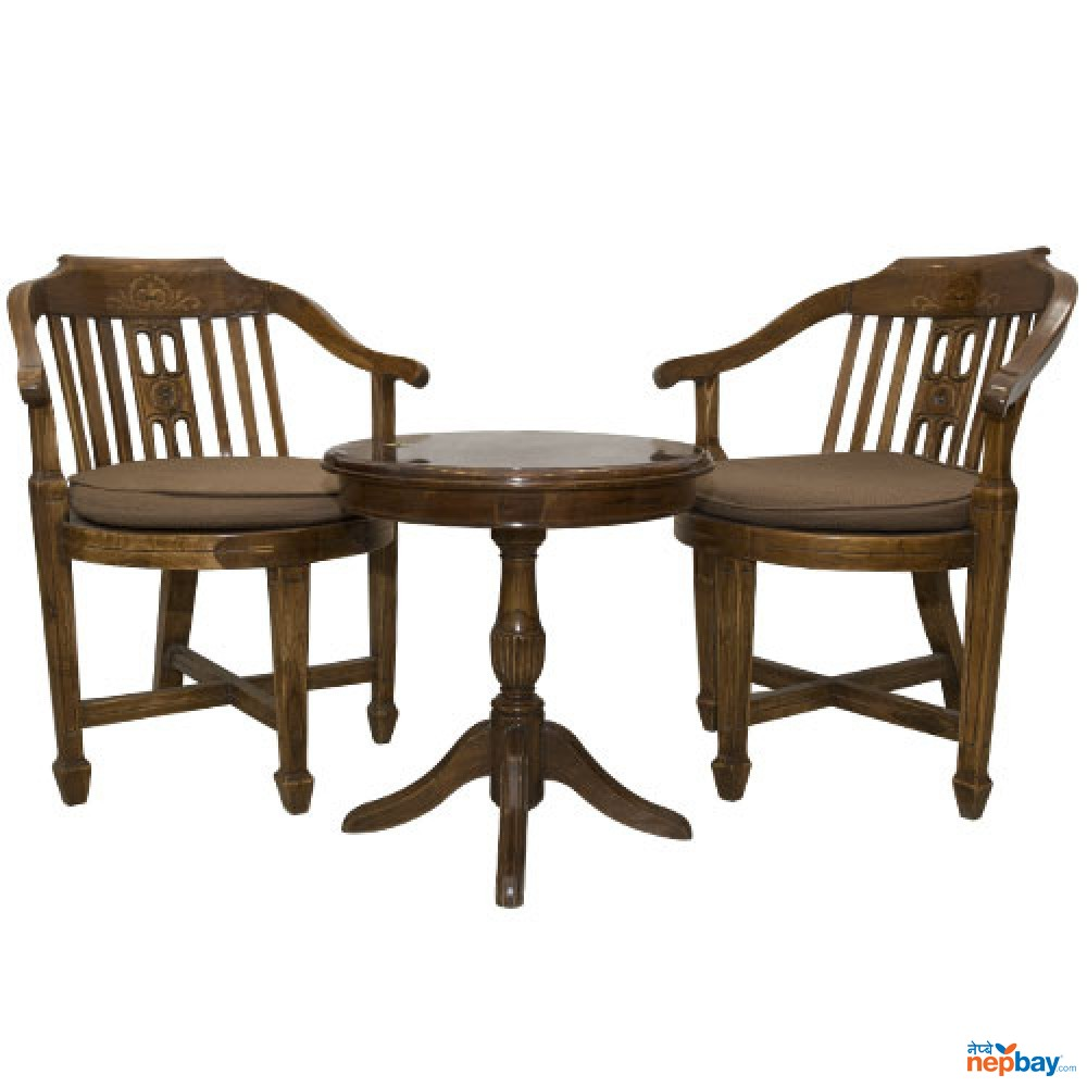 Wooden Outdoor Tea/Coffee Table Set - Tick With Full Furnished