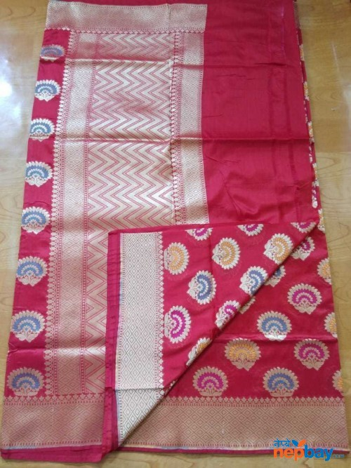 LATEST SEMI KATAN SILK DESIGNER SAREE BANARAS LATEST FROM TRADITIONAL FACTORY