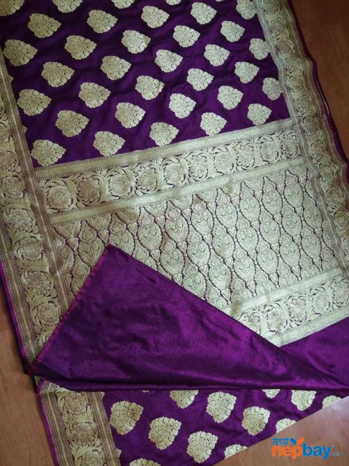 SEMI KATAN SILK DESIGNER SAREE MEENADAR BANARAS LATEST FROM TRADITIONAL FACTORY
