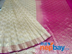 SEMI KATAN SILK DESIGNER SAREE  BANARAS LATEST FROM TRADITIONAL FACTORY