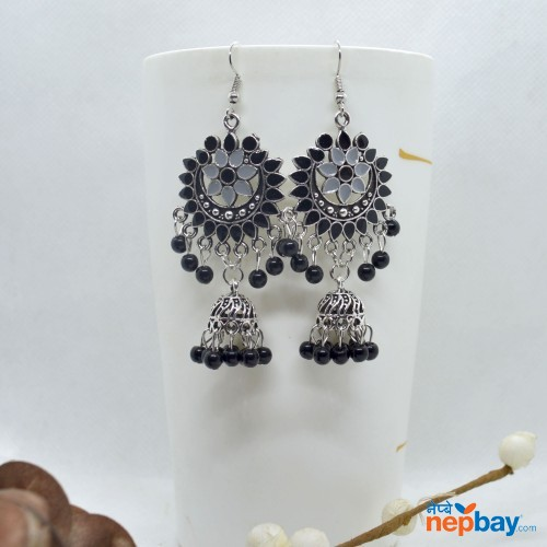 Ethnic Style Chandbaali Designed Pinjada Drop Dangle Earrings (70 MM)