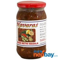 Navaras Mixed Methi Masala Pickle 400g