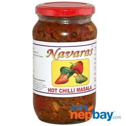 Navaras Hot Chilli Masala Pickle 400g