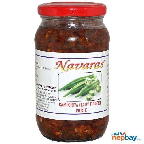 Navaras Ramtoriya (Lady Finger) Pickle 400g