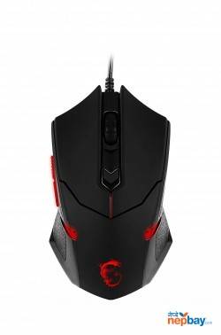 MSI USB Optical Gaming Mouse with Ergonomic Design & Weight System (Interceptor DS B1)