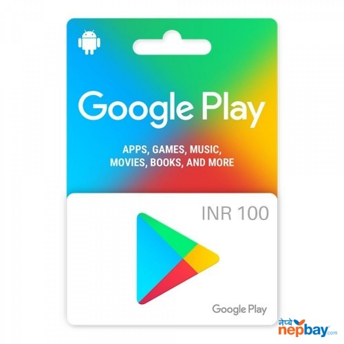 Google Play Gift Card 100INR