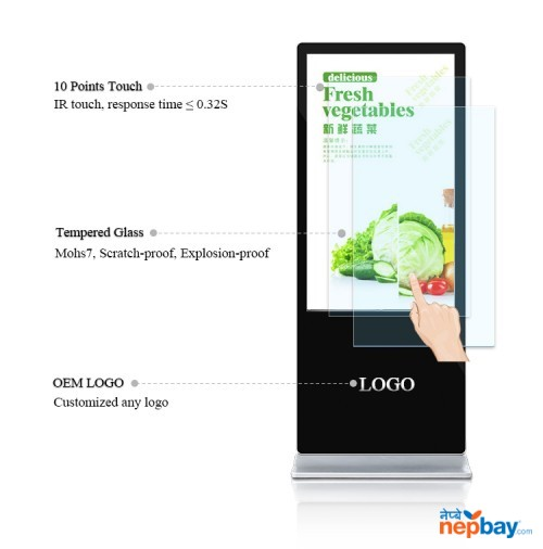 "Android 55"" Digital Signage Monitor advertising Display Standee"