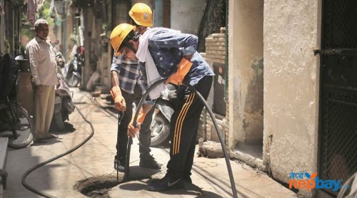 Drainage and septic tank cleaning service ktm nepal