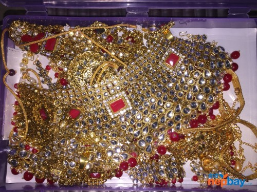 full Bridle Set fancy Kundan with stone (1 year color Guaranty )