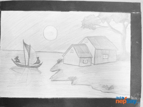 A4 sketch of scenery!