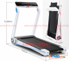 Fitness Folding S1 Treadmill Rotatable Touch Screen App Control Free Installation Running Machine