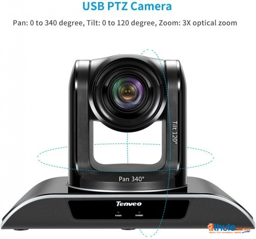 : Conference Room Camera 3X Optical Zoom Full HD 1080p USB PTZ Video Conference Camera for Business Meetings (3X Zoom TEVO-VHD3U)