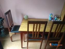 Dining Table and Chairs Set (Wooden)