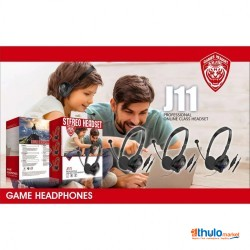 J11 Headset 3.5mm wired Headset For Gaming , Online Class Headset