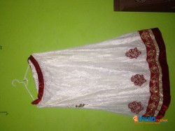 white lehenga for girls (party and occasions) for 9-12 years (second hand)