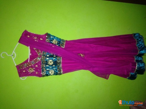 pink kurta with shawl (worn only once)