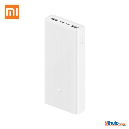 Fast Charging 20000mAh Power Bank 3, PLM18ZM Dual USB 18W, Portable Charger External Battery for Apple, Samsung, Xiaomi, Mi Redmi Mobile