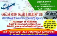 Greatervision Travel and tours pvt.Ltd.